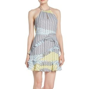 NWT Parker Ruffled A-Line Halter Dress in Gia
